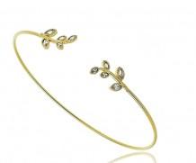 Bracelete Folhas Zirc Micro Cravada