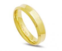 Aliança de ouro 18k anatômica com diamante