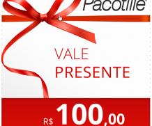 Vale Presente R$100, Pacotille - Dê este presente para que você ama. Adicione vários vales para aumentar o valor do presente !